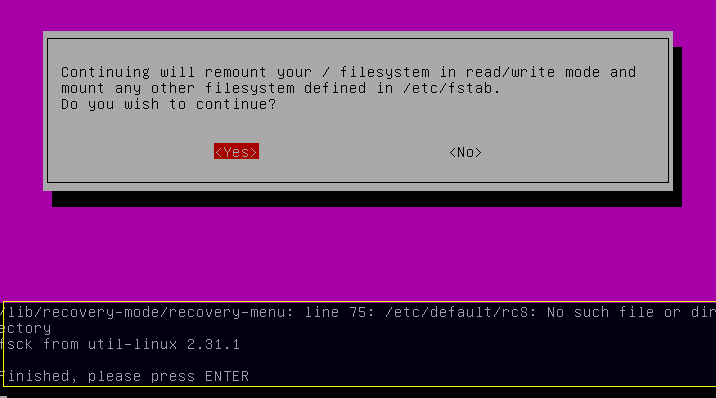 برای دیدن سایز بزرگ روی عکس کلیک کنید نام: Running-fsck-Filesystem-Check-6.png مشاهده: 1 حجم: 5.9 کیلو بایت