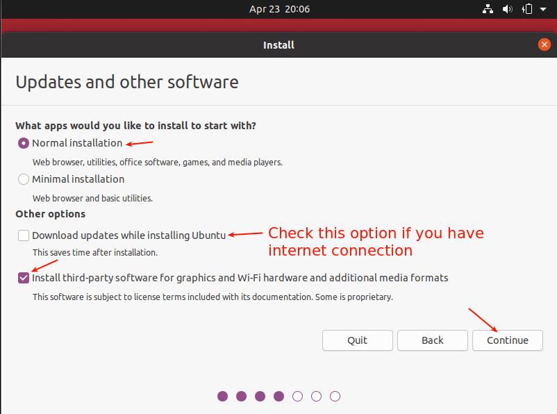 نحوه نصب اوبونتو 20.04 در virtualbox