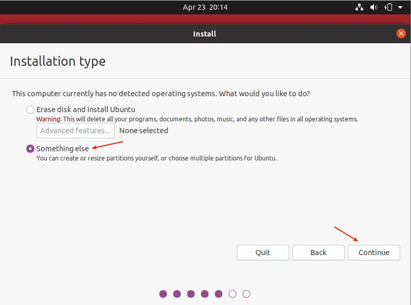نحوه نصب ubuntu 20.04