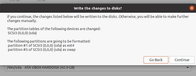 پارتیشن بندی ubuntu 20.04