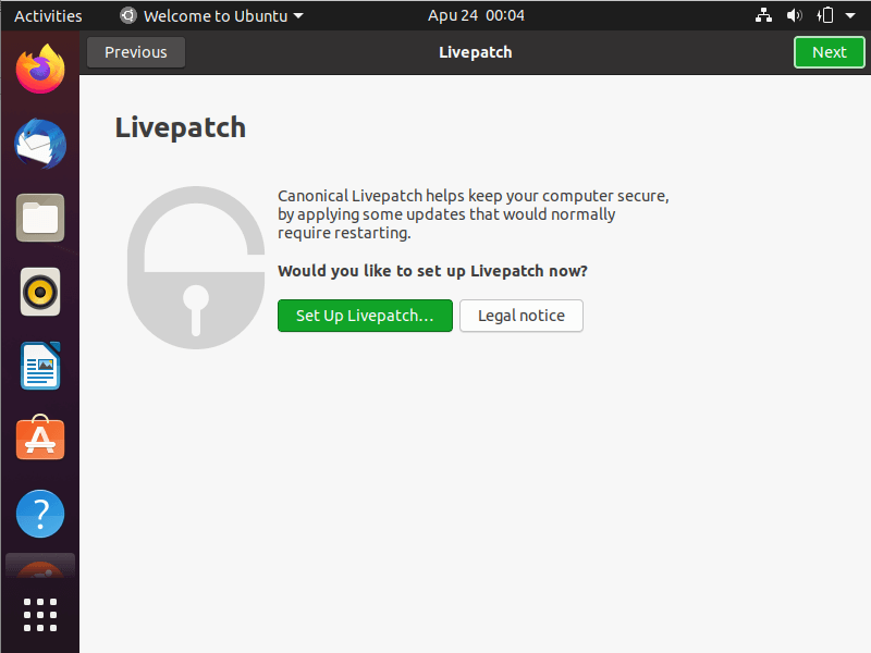 نصب livepatch در ubuntu 20.04